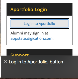 login button example with proper ARIA role